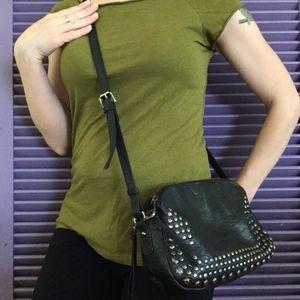 Joelle Hawkens Studded Leather Crossbody Bag